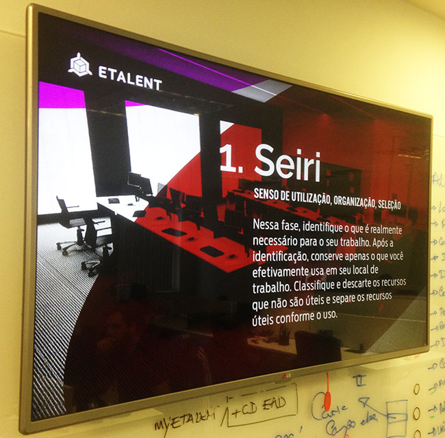 Programa ETALENT 5S nas TVs Internas