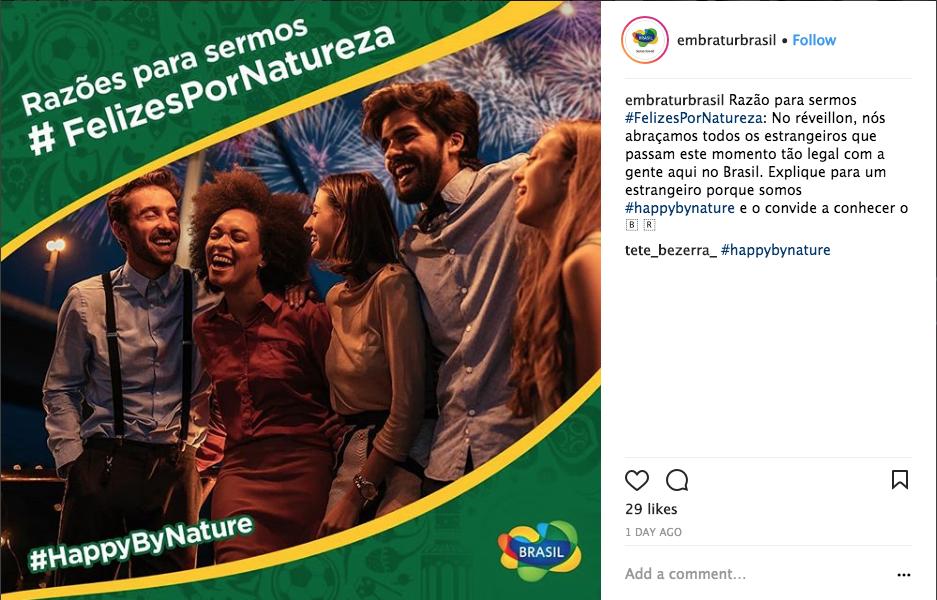 Campanha Felizes por Natureza no Instagram | Embratur