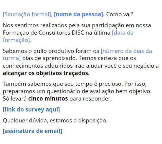 Modelo de Email personalizado