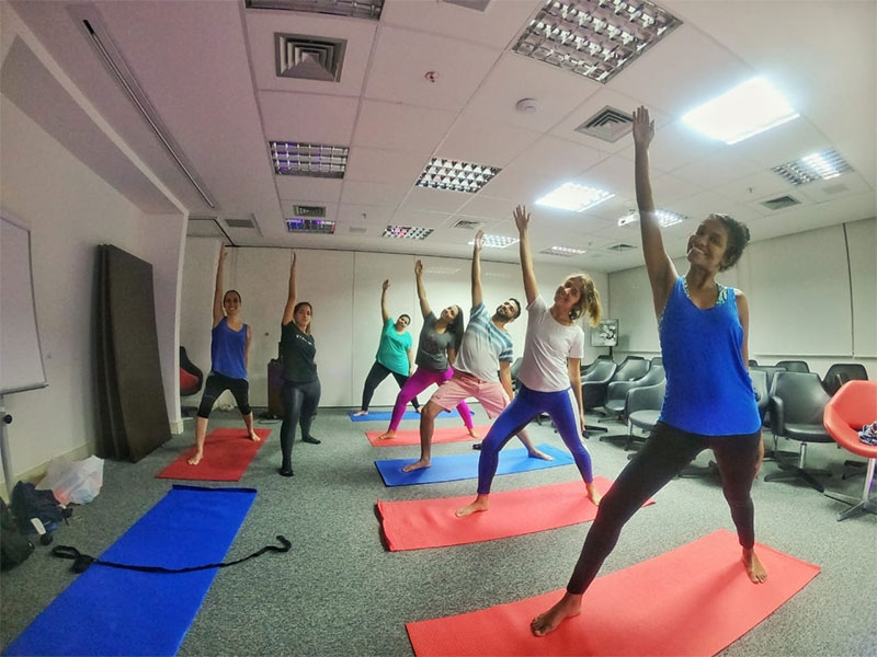 A participação no Yoga ETALENT